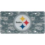 Pittsburgh Steelers Digi Camo Laser Cut License Plate