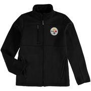 Pittsburgh Steelers Youth Helix Bonded Full-Zip Fleece Jacket - Black