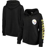 Pittsburgh Steelers Women's Extra Point 2 Hit Full-Zip Hoodie - Black
