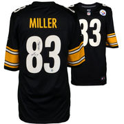 Heath Miller Pittsburgh Steelers Fanatics Authentic Autographed Black Nike Game Jersey with