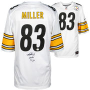 Heath Miller Pittsburgh Steelers Fanatics Authentic Autographed White Nike Game Jersey with