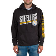 Pittsburgh Steelers Sidestripe 2-Hit Pullover Hoodie - Charcoal