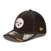 Pittsburgh Steelers New Era Neo 39THIRTY Flex Hat - Black -