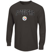 Pittsburgh Steelers Majestic Big & Tall Solid Thermal Long Sleeve T-Shirt - Charcoal