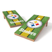 Pittsburgh Steelers 2' x 4' Football Field XL Shield Tailgate Toss Set
