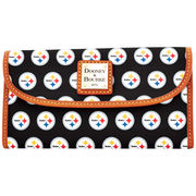 Pittsburgh Steelers Dooney & Bourke Women's Continental Clutch - Black