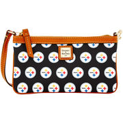 Pittsburgh Steelers Dooney & Bourke Women's Large Slim Wristlet - Black