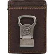 Pittsburgh Steelers Jack Mason Brand Gridiron Multicard Wallet - Brown