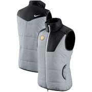Pittsburgh Steelers Nike Women's Champ Drive Vest - Heathered Gray