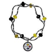 Pittsburgh Steelers Women's Bead Stretch Bracelet