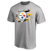Pittsburgh Steelers NFL Pro Line True Color T-Shirt - Heathered Gray