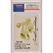 Terry Bradshaw Pittsburgh Steelers Fanatics Authentic Autographed 2014 Panini National Treasures #121 1/1 Cyan Printing Plate Card with Multiple Inscriptions - Limited Edition of 1