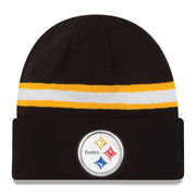 Pittsburgh Steelers New Era Color Rush On Field Cuffed Knit Hat - Black