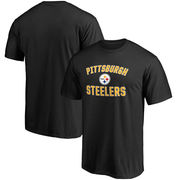 Pittsburgh Steelers NFL Pro Line by Fanatics Branded Big & Tall Victory Arch T-Shirt - Black