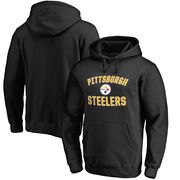 Pittsburgh Steelers NFL Pro Line Victory Arch Pullover Hoodie - Black
