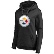 Pittsburgh Steelers NFL Pro Line Women's Primary Team Logo Pullover Hoodie - Black
