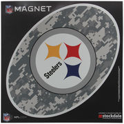Pittsburgh Steelers 12 x 12 Digi Camo Oval Magnet
