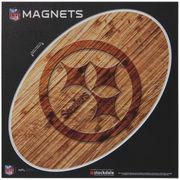 Pittsburgh Steelers 6 x 6 Wood Design Magnet