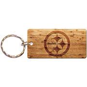 Pittsburgh Steelers Wood Design Keychain