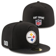 Pittsburgh Steelers New Era Custom On-Field 59FIFTY Structured Fitted Hat - Black