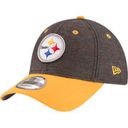 Pittsburgh Steelers New Era Vivid Crowner 9FORTY Adjustable Snapback Hat - Black/Gold