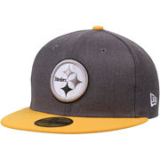 Pittsburgh Steelers New Era Shader Melt 2 59FIFTY Fitted Hat - Heathered Gray/Gold