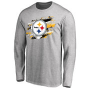 Pittsburgh Steelers NFL Pro Line True Colors Long Sleeve T-Shirt - Ash