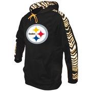Pittsburgh Steelers Zubaz Solid Hoodie - Black/Gold