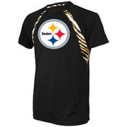 Pittsburgh Steelers Zubaz Solid T-Shirt - Black