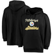 Pittsburgh Steelers Majestic Women's Plus Size Rookie Pullover Hoodie - Black