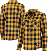 Pittsburgh Steelers Levi's Women's Barstow Western Button-Up Long Sleeve Shirt - Black