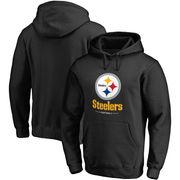 Pittsburgh Steelers NFL Pro Line Big & Tall Team Lockup Pullover Hoodie - Black
