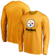 Pittsburgh Steelers NFL Pro Line by Fanatics Branded Team Lockup Long Sleeve T-Shirt - Gold