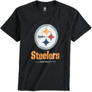 Pittsburgh Steelers NFL Pro Line Youth Team Lockup T-Shirt - Black