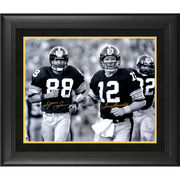 Terry Bradshaw and Lynn Swann Pittsburgh Steelers Fanatics Authentic Framed Dual Autographed 16