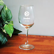 Pittsburgh Steelers 12oz. Personalized Wine Glass