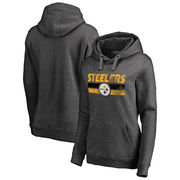 Pittsburgh Steelers NFL Pro Line by Fanatics Branded Women's First String Pullover Hoodie - Charcoal