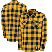 Pittsburgh Steelers Levi's Barstow Buffalo Plaid Western Long Sleeve T-Shirt - Black