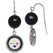 Pittsburgh Steelers Women's Logo Pearl Earrings