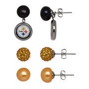 Pittsburgh Steelers Women's Pearl Earrings