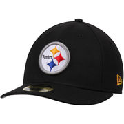 Pittsburgh Steelers New Era Omaha Low Profile 59FIFTY Structured Hat - Black