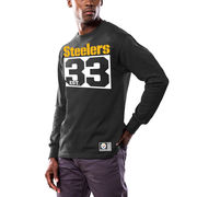 Pittsburgh Steelers Majestic Favorable Result Long Sleeve T-Shirt - Black