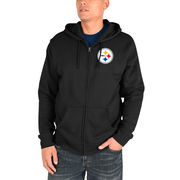 Pittsburgh Steelers Majestic Realm of Champions Full-Zip Hoodie - Black
