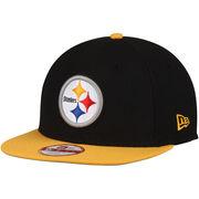 Pittsburgh Steelers New Era Southside Snap Original Fit 9FIFTY Adjustable Snapback Hat - Black
