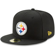 Pittsburgh Steelers New Era Omaha 59FIFTY Fitted Hat - Black