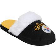 Pittsburgh Steelers Women's Colorblock Fur Slide Slippers