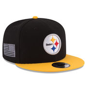 Pittsburgh Steelers New Era Crafted In America 9FIFTY Snapback Adjustable Hat - Black
