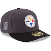 Pittsburgh Steelers New Era Crafted In America Low Profile 59FIFTY Fitted Hat - Graphite