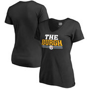 NFL Pro Line Pittsburgh Steelers Women's Black Hometown Collection V-Neck T-Shirt