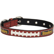 Pittsburgh Steelers Toy Size Classic Leather Dog Collar